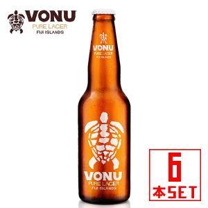 ヴォヌ(ウミガメ) ピュアラガー 瓶355mlx6本 フィジービール winecellarescargot