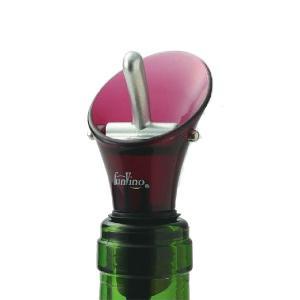 カラー ワインストッパー & ポアラー ワインレッド お取り寄せ|winecellarescargot