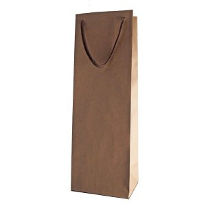ワイン1本用紙袋(茶色)ギフトボックスサイズ対応|winecellarescargot