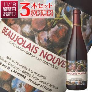 ボジョレーヌーヴォー2019 (送料無料)3本セット ボジョレー ヌーヴォー 2019年 M ラピエール(赤ワイン ブルゴーニュ)(解禁日11月21日お届け)|winecellarescargot
