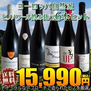 (送料無料)ヨーロッパ自然派ピノノワール飲み比べ6本セット(赤ワイン)|winecellarescargot