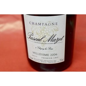 シャンパン スパークリングワイン パスカル・マゼ / ブリュット・ミレジメ [2006]|wineholic