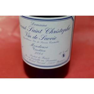赤ワイン ドメーヌ・プリウレ・サン・クリストフ / ヴァン・ド・サヴォワ・ルージュ モンドゥーズ・トラディシオン [2004] wineholic