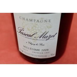 シャンパン(泡物) パスカル・マゼ / ブリュット・ミレジメ・プルミエ・クリュ [2008] wineholic