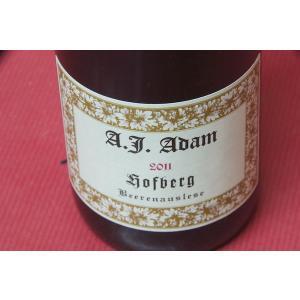 白ワイン アンドレアス・J・アダム / ホーフベルク・ベーレンアウスレーゼ [2011] 375ml|wineholic