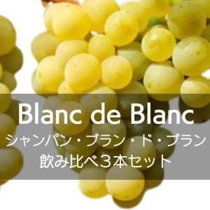 シャンパン、ブラン・ド・ブラン飲み比べ3本セット【ワインセット】|wineholic