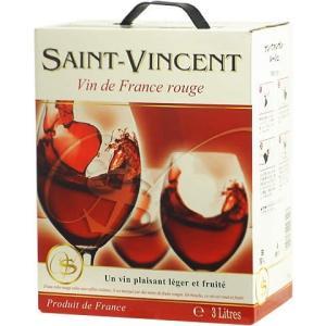 【BOXよりどり6個で送料無料】<赤>サン・ヴァンサン ルージュ バッグインボックス 3,000ml ボックスワイン 箱ワイン BOXワイン|winekan
