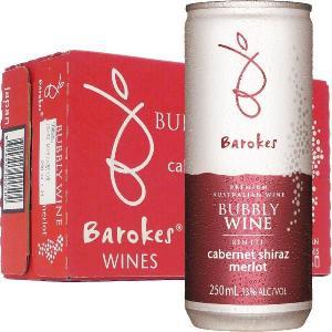 バロークス スパークリング缶ワイン 赤  250ml24本箱...