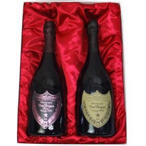 高級ギフト箱入り ドン・ペリニヨン (ドンペリ) 2009&ドンペリニヨン ロゼ (ピンドン)2005|winekatayama