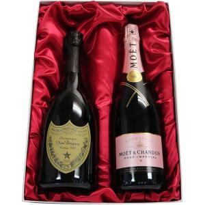 高級ギフト箱入り ドン・ペリニヨン (ドンペリ)2009&モエ・エ・シャンドン ロゼ アンペリアル 750ml|winekatayama