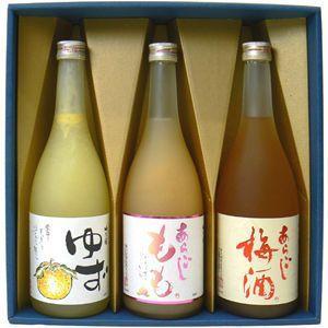 【梅酒 ギフト箱入り】 梅の宿人気果実酒 飲み比べ3本セット 梅酒・ゆず・みかん・もも・りんごから選べます ギフト箱入り|winekatayama