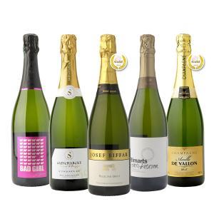 【送料無料】ソムリエとソムリエールが泡好きのために選んだ厳選シャンパン入り泡5本セット|winenet
