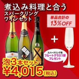 【送料無料】ワインネット「365」ワインセット 宅飲みが楽しくなるシリーズ NO.4 煮込み料理と合うスパークリングワインセット|winenet