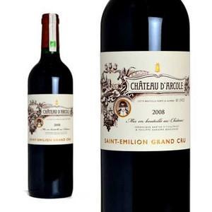 シャトー・ダルコル 2008年 AOCサンテミリオン グラン・クリュ (赤ワイン・フランス)