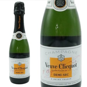 シャンパーニュ ヴーヴ・クリコ ホワイトラベル ドゥミ・セック ハーフサイズ AOCシャンパーニュ (フランス・シャンパン)