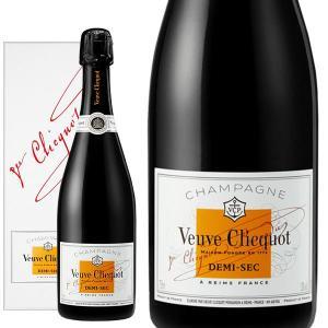 シャンパン クリコ シャンパーニュ ヴーヴ・クリコ ホワイトラベル ドゥミ・セック 箱入り AOCシャンパーニュ (フランス・シャンパン) wineuki