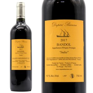 バンドール キュヴェ・インディア 2016年 デュペレ・バレッラ 750ml 正規 (プロヴァンス 赤ワイン)|wineuki