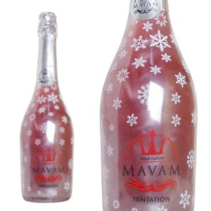 マバム テンテーション ゴールド・フュージョン ボデガス・ビタル・デル・サズ 750ml LEDライト付きボトル (スペイン ラメ入りスパークリングワイン)|wineuki