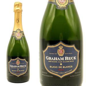 グラハム・ベック ブリュット ブラン・ド・ブラン ヴィンテージ2013年 750ml (南アフリカ スパークリングワイン 白 箱なし)|wineuki