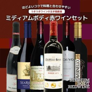 ワインセット うきうきワインの玉手箱厳選 世界の極上ミディアムボディ赤ワイン飲み比べ6本セット (送料無料ワインセット) wineuki