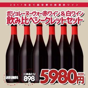 ボジョレーヌーヴォー 赤ワイン&白ワイン 2017年新酒 飲み比べ6本セット 送料無料