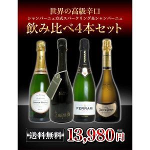 ワインセット 世界のシャンパン方式スパークリングワイン&シャンパーニュ 飲み比べ4本セット 送料無料