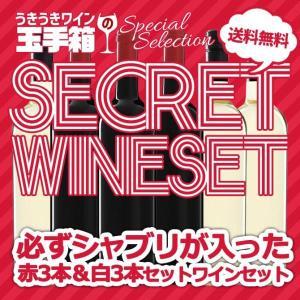 ワインセット うきうきワインの玉手箱セレクション 家飲みシークレットワインセット 必ずシャブリが入った 赤ワイン3本&白ワイン3本の6本セット 送料無料|wineuki