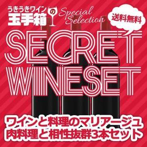 ワインセット うきうきワインの玉手箱セレクション 肉料理と相性抜群 家飲みシークレットワイン 3本セット 送料無料|wineuki