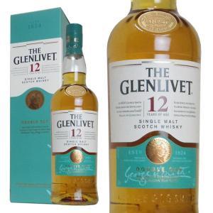 ザ・グレンリベット 12年 40% 700ml 箱入り (シングルモルトスコッチウイスキー)|wineuki