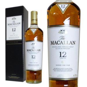 あすつく ザ・マッカラン シェリーオーク 12年 40% 700ml 箱入り 正規輸入代理店品 (シングルモルトスコッチウイスキー)|wineuki