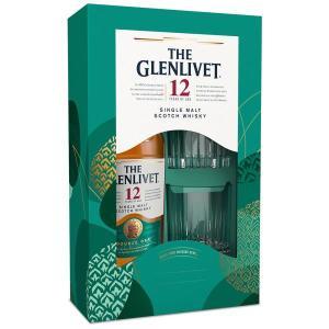ウイスキー ザ・グレンリベット 12年 40% 700ml ロゴ入りタンブラー2脚付き 箱入り グラスオンパック 正規 (シングルモルトスコッチウイスキー)|wineuki