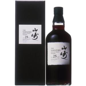 サントリー シングルモルトウイスキー 山崎 25年 43% 700ml ギフト箱入り 正規品 (シングルモルトウイスキー)|wineuki