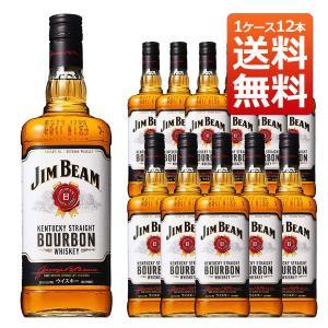 ジムビーム ホワイト 40% リッターボトル 1000ml 正規 1ケース 12本入り (バーボンウイスキー) 送料無料|wineuki