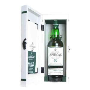 ラフロイグ 25年 48.6% 700ml 木箱入り (シングルモルトスコッチウイスキー)|wineuki