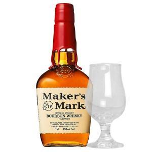 あすつく メーカーズマーク レッドトップ 45% 700ml 正規 東洋佐々木ガラス140ml テイスティンググラス1脚付き (アメリカ バーボン ウイスキー) wineuki