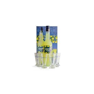リモンチェッロ・ディ・カプリ 専用グラス6脚付きギフトセット (イタリア・リキュール)|wineuki