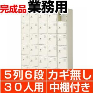 業務用 シューズボックス スチール製 30人用 5列6段 扉付き 中棚付き 日本製 送料無料|wing0