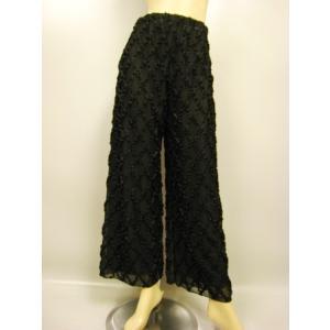 ジャズパンツ 社交ダンス ストレッチパンツ 衣装 オーバースカート パニエ ダンスウェア  黒B|wing12