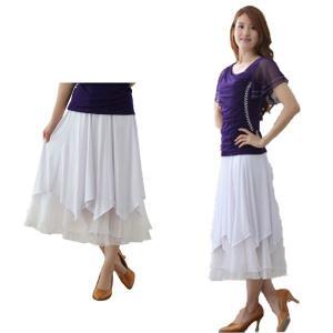 社交ダンス ダンススカート レディース ダンスウェア 衣装 Mサイズ Lサイズ 白 ジルコンシルバー|wing12
