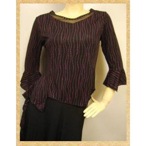 社交ダンス コーラス ダンスストップス レディース ダンスウェア 衣装 Mサイズから Lサイズ 黒 ピンク|wing12