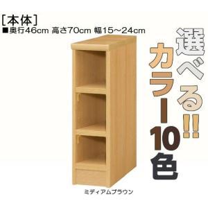 隙間収納 高さ70cm幅15〜24cm奥行46cm厚棚板(棚板厚み2.5cm)コレクションボード 豊...