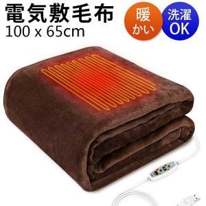 電気毛布 ひざ掛け 電気ブランケット 電気敷き毛布 電気掛毛布 洗える 掛け敷き兼用 ふわふわ 100×65cm (B1DRPJZo)|wingchokuei