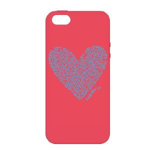 キース・ヘリング デザイン iPhone5(アイフォン5) シリコン ケース Keith Haring Collection Laser Engraved Silicone Case for iPhone 5 Heart/Red|winglide