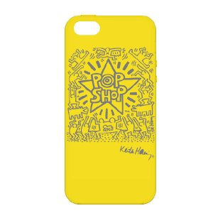 キース・ヘリング デザイン iPhone5(アイフォン5) シリコン ケース Keith Haring Collection Laser Engraved Silicone Case for iPhone 5  POP SHOP|winglide