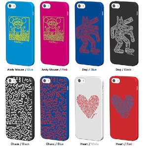 キース・ヘリング デザイン iPhone5s/5(アイフォン5s)用 シリコン ケース 『Keith Haring Collection Laser Engraved Silicone Case for iPhone 5s/5』 スマホ|winglide