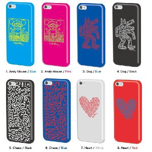 キース・ヘリング デザイン iPhone5c(アイフォン5c)用 シリコンケース 『Keith Haring Collection Laser Engraved Silicone Case for iPhone 5c』 スマホ|winglide