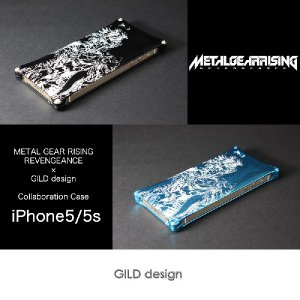 iPhoneSE / iPhone5s/5用 アルミ バンパー メタルギアライジング METAL GEAR RISING REVENGEANCE 雷電 ×GILD design GIKO-220B GIKO-220BL|winglide