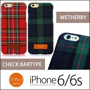 iPhone6s / iPhone6 ファブリック ケース タータンチェック柄 WETHERBY Bartype Check iPhoneケース スマホケース スマホカバー チェック柄 チェック 赤 緑 winglide