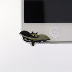 iPhone5(アイフォン5)対応のフック型イヤホンジャックアクセサリー♪   iDress コウモリ iDP5-JJ5   スマホ、アイホンにぴったり♪|winglide