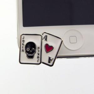 iPhone5(アイフォン5)対応のフック型イヤホンジャックアクセサリー♪   iDress トランプカード iDP5-JJ6   スマホ、アイホンにぴったり♪|winglide